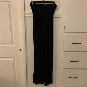 Two leg slit maxi skirt